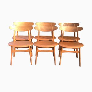 Chaises de Salle à Manger CH30 Vintage par Hans Wegner pour Carl Hansen & Son, Set de 6