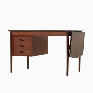 Drop-leaf Desk by Erik Buch for Oddense Maskinsnedkeri AS, 1960s