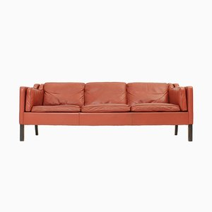 Danish Leather Sofa, 1960s