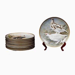 Piatti decorativi Game Birds of the World di Basil Ede per Franklin Porcelain, 1978, set di 11