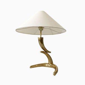 Lámpara de mesa Mid-Century Modern de latón, años 70