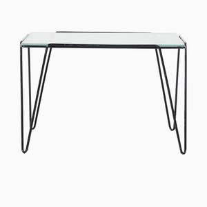 Dutch Glass Wireframe Coffee Table by Buena de Mesquita for Spurs Meubelen, 1950s