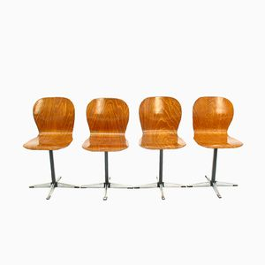 Chairs from Neuwieder Schulmöbel, 1970s, Set of 4