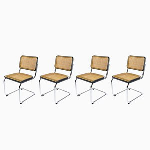 Vintage S32 Cesca Chairs by Marcel Breuer for Thonet, Set of 4