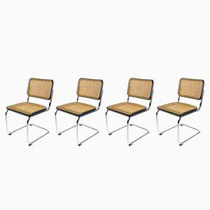 Vintage S32 Cesca Stühle von Marcel Breuer für Thonet, 4er Set