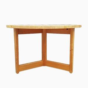 Mesa de comedor de pino de Jacob Kielland-Brandt, años 60