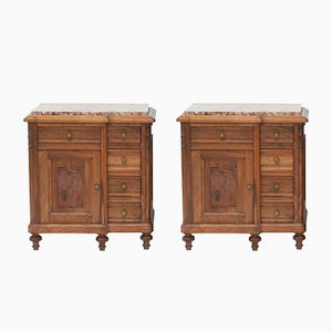 French Art Deco Nightstands 1930s, Set of 2