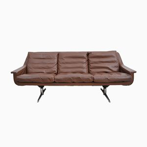 Vintage Cognac Leather 3-Seater Sofa