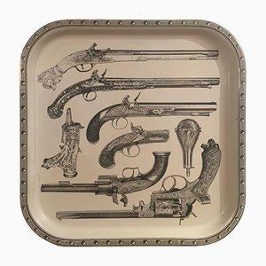 Pistolen Tablett von Piero Fornasetti, 1978