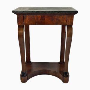 Mahogany Veneer Empire Console Table