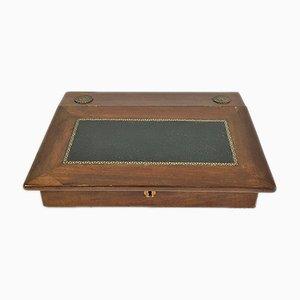 Accessorio da scrivania antico impiallacciato in mogano