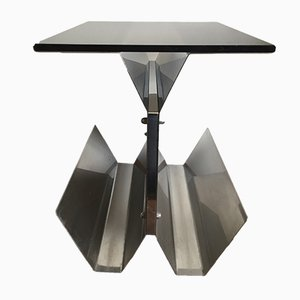 Steel & Glass Side Table, 1970s