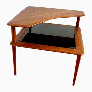 Tavolino ad angolo Minerva in teak di Peter Hvidt e Orla Molgaard-Nielsen per France and Son, anni '60