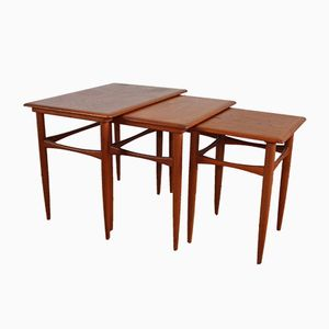 Danish Teak Nesting Tables by Kai Kristiansen, 1960s