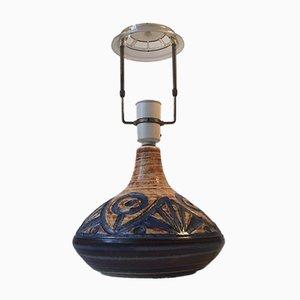 Lampe de Bureau Vintage en Grès par Noomi Bachausen pour Søholm, Danemark, 1960s