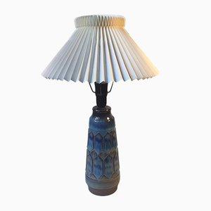 Lámpara de mesa Harlequin de cerámica de Einar Johansen, años 60