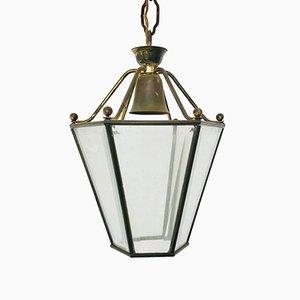 Italian Brass Lantern, 1950s