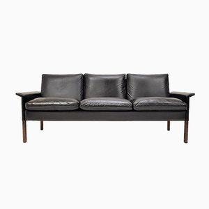 Model 500/3 Sofa in Brazilian Rosewood & Leather by Hans Olsen for C.S Møbler, 1960s