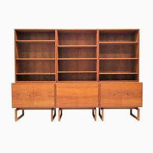 Muebles y librerías de teca de Arne Hovmand Olsen para Mogens Kold, años 60. Juego de 6