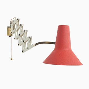 Lámpara de pared tijera, años 50