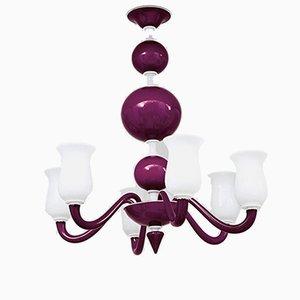 Lámpara de araña de cristal de Murano de Paolo Venini, años 50