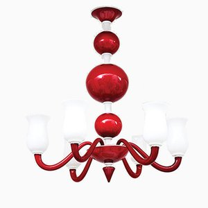 Murano Glass Chandelier by Paolo Venini, 1950s