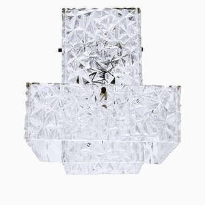 Lámpara colgante de plexiglás de Austrolux, años 60