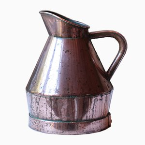 Antique French Winemakers Copper Pitcher