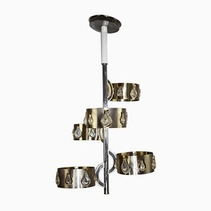 Lámpara de araña de Gaetano Sciolar para Sciolari, años 70. Juego de 2