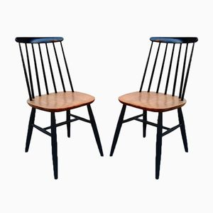 Vintage Model Fanett Side Chairs by Ilmari Tapiovaara, Set of 2