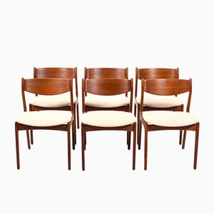 Vintage Teak Dining Chairs by Erik Buch, Set of 6