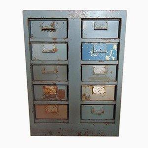 Cassettiera da garage industriale vintage