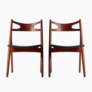 Mid-Century Model CH29 Chairs by Hans J. Wegner for Carl Hansen & Søn, Set of 2
