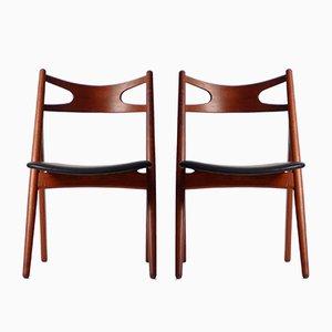 Mid-Century Modell CH29 Stühle von Hans J. Wegner für Carl Hansen & Søn, 2er Set