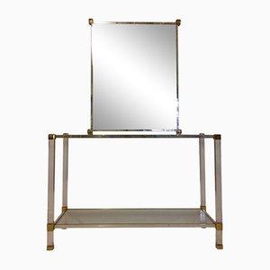 Guéridon et Miroir Vintage