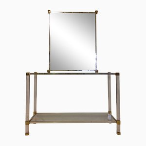 Vintage Console Table & Mirror