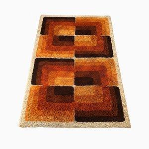 Alfombra grande con motivos cúbicos abstractos de Desso, años 70