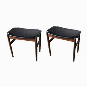 Palisander Stools by Gustav Bertelsen, 1950s, Set of 2