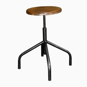 Mid-Century Polish Adjustable Stool