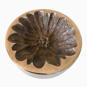 Vintage Münzschale aus Bronze von Monique Gerber, 1970er