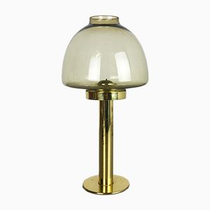 Swedish Brass & Glass Claudia Candleholder by Hans-Agne Jakobson, 1960s