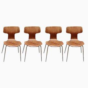 Sedie nr. 3103 di Arne Jacobsen per Fritz Hansen, 1969, set di 4