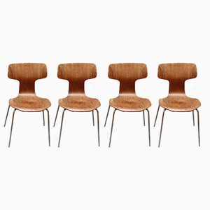 Type 3103 Chairs by Arne Jacobsen for Fritz Hansen, 1969, Set of 4