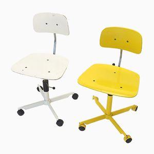 Vintage KEVI Stühle von Jorgen & Ib Rasmussen für Fritz Hansen, 2er Set