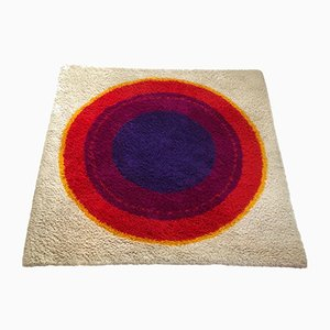Danish Wool Ring Rya Rug from Hojer Eksport Wilton, 1960s