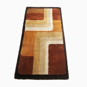 Modernist Danish Multi-Colored Wool Rug, 1970s