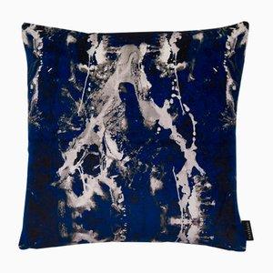 Coussin Blotto Bleu Marine par 17 Patterns