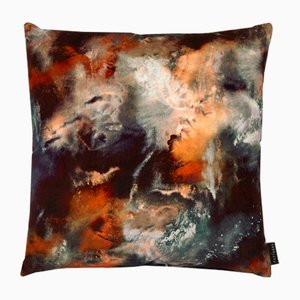 Cloudbusting Rust Cushion by 17 Patterns