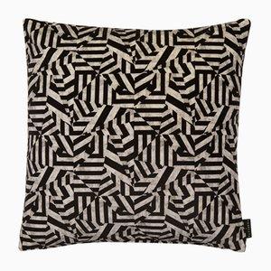 Coussin Dazzle Noir par 17 Patterns