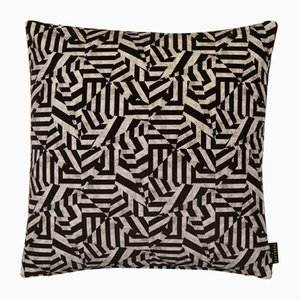 Dazzle Black Cushion by 17 Patterns